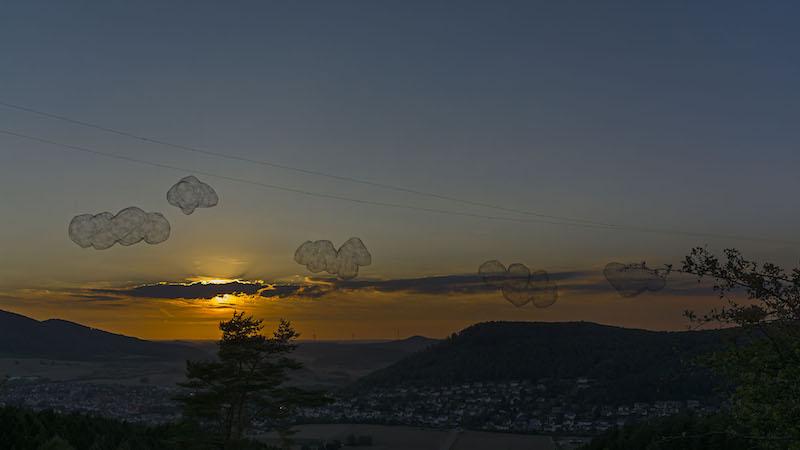 ... Wolken über ... / Foto: Horst Siebert