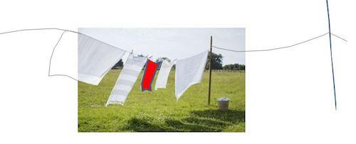 laundry in the wind – Wäsche im Wind